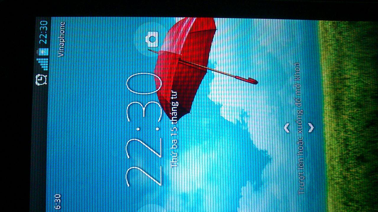 Lỗi màn hình smartphone bị sọc ngang