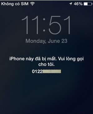 iphone báo mất