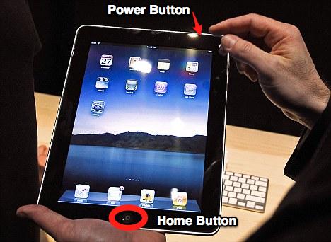 nút home và nút nguồn ipad